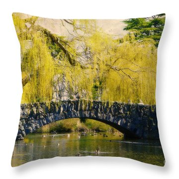 Springtime In Victoria Throw Pillow