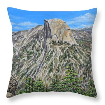 Springtime In Yosemite Valley Throw Pillow