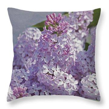 Springtime Lilacs Throw Pillow