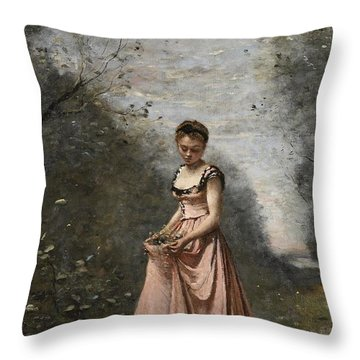 Springtime Of Life Throw Pillow by Jean Baptiste Camille Corot
