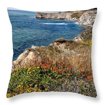 Springtime On The California Coast Throw Pillow