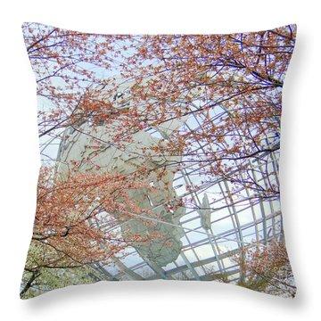Springtime Round The World Throw Pillow by Ed Weidman