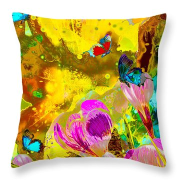 Springtime Splash Throw Pillow