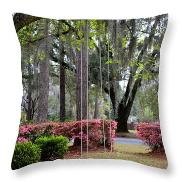 Springtime Swing Time Throw Pillow by Carla Parris