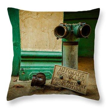 Sprinkler Green Throw Pillow
