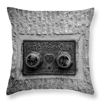 Sprinkler With A Heart Throw Pillow