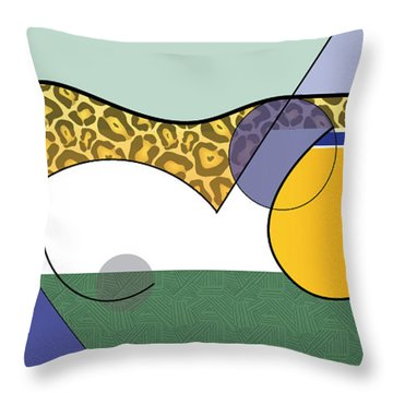 Sprinting Jaguar Throw Pillow