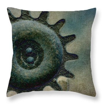 Sprocket Throw Pillow by WB Johnston