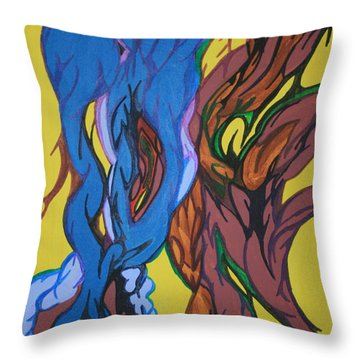 Sprouting Seed 1 Throw Pillow by Mary Mikawoz