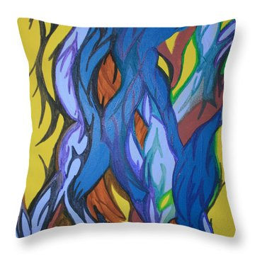 Sprouting Seed 2 Throw Pillow by Mary Mikawoz
