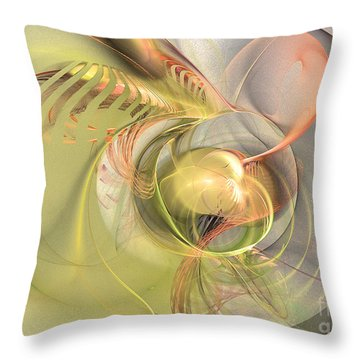 Sprouting Up - Abstract Art Throw Pillow