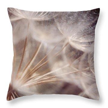 Spun Gold Throw Pillow by Lisa Knechtel