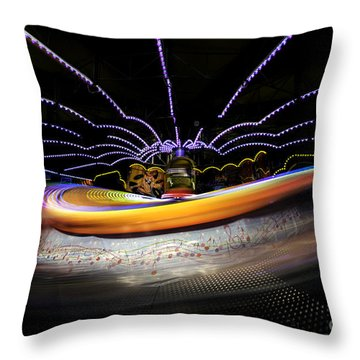 Spun Out 2 Throw Pillow