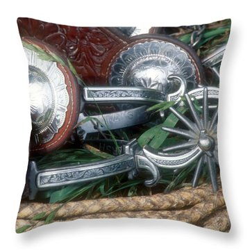 Spurs Throw Pillow by Diane Bohna
