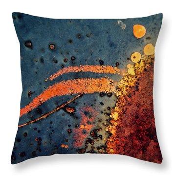 Sputter Throw Pillow by Leanna Lomanski