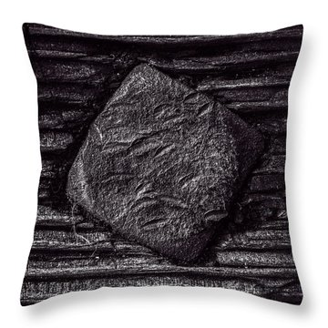Square Head Throw Pillow by Bob Orsillo