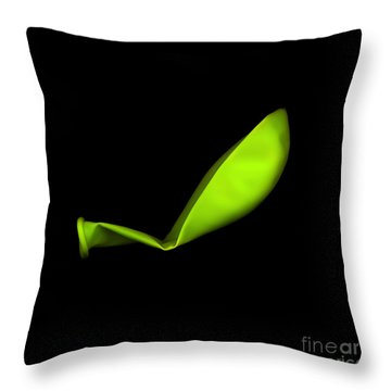 Square Lime Green Balloon Throw Pillow by Julian Cook