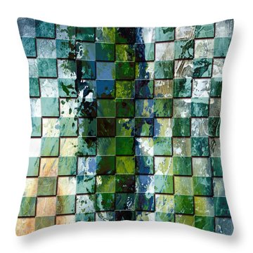 Square Mania - Abstract 01 Throw Pillow by Emerico Imre Toth