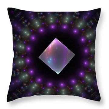 Square Peg Round Hole Throw Pillow