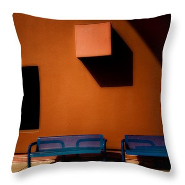 Square Shadows Throw Pillow