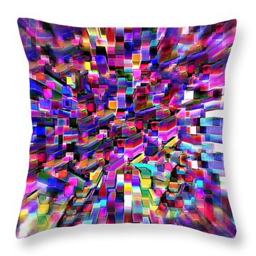 Throw Pillow featuring the photograph Squared Array by Kellice Swaggerty