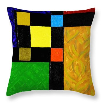Squared Throw Pillow by Celeste Manning