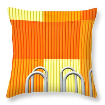 Squares Throw Pillow by Diane Lent