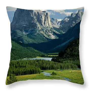Squaretop Mountain 3 Throw Pillow