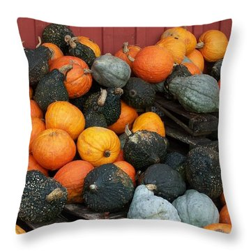Squash For Sale Throw Pillow
