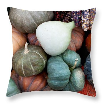 Squash Medley Throw Pillow
