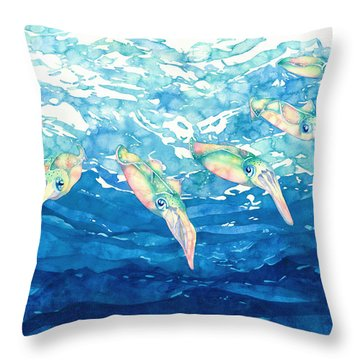 Squid Ballet Throw Pillow