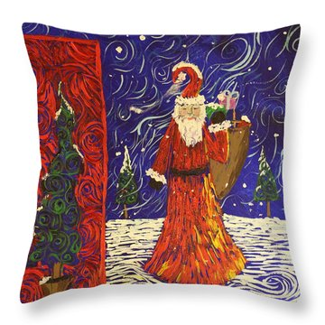 Squiggle Christmas Throw Pillow