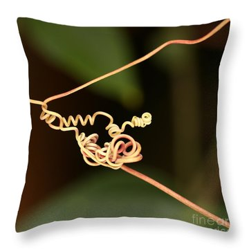 Squiggles Throw Pillow by Sabrina L Ryan