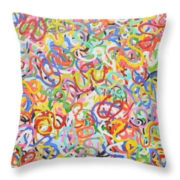 Squirms Throw Pillow
