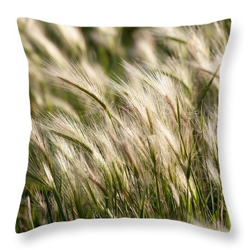 Squirrel Grass Throw Pillow