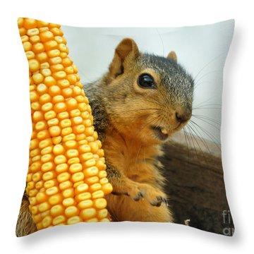 Squirrel Throw Pillow by Lori Tordsen