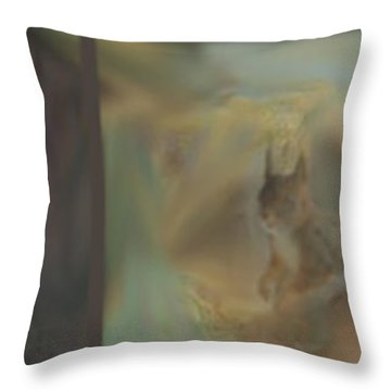 Squirrels And Trees Throw Pillow by Randi Grace Nilsberg