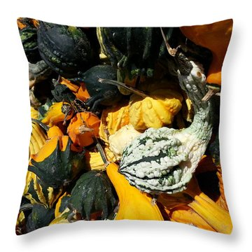 Squish Squash Throw Pillow