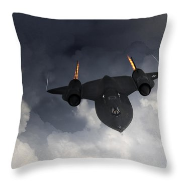 Sr-71 Blackbird Throw Pillow by J Biggadike