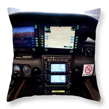 Sr22 Cockpit Throw Pillow