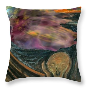 Sreaming To The End Throw Pillow by John Malone