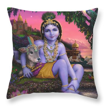 Sri Krishnachandra Throw Pillow