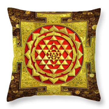 Sri Lakshmi Yantra Throw Pillow