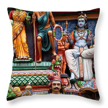 Sri Mariamman Temple 03 Throw Pillow