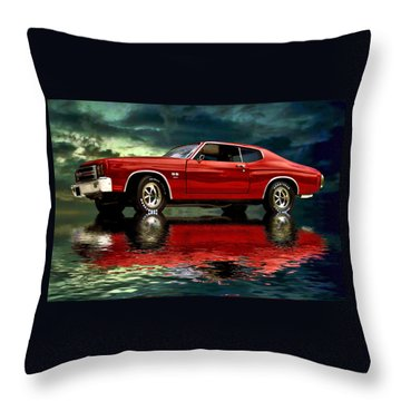 Chevelle 454 Throw Pillow by Steven Agius