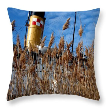 S.s. Keewatin With Grasses Throw Pillow
