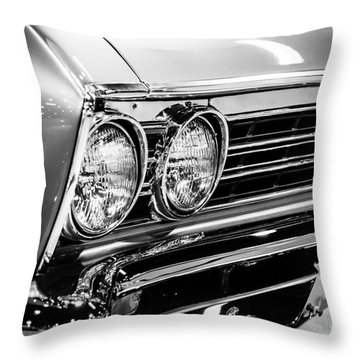Ss396 Chevelle Black And White Picture Throw Pillow by Paul Velgos