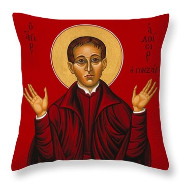 St. Aloysius In The Fire Of Prayer 020 Throw Pillow
