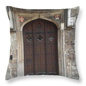 St. Andrew's Door Throw Pillow