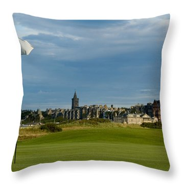 St Andrews Golf Throw Pillow by Jeremy Voisey